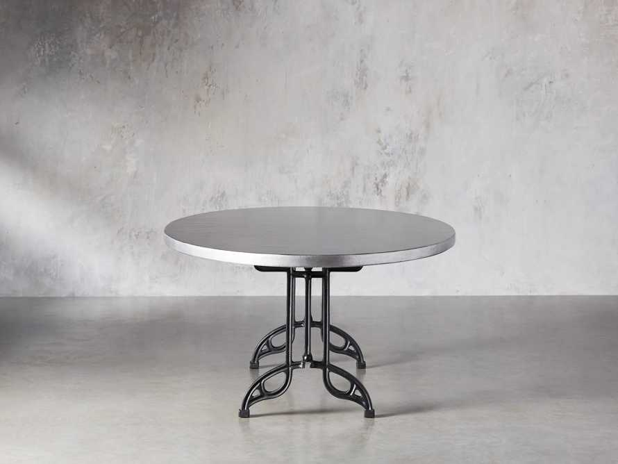 """Zinc Alloy 52"""" X 90"""" Oval Dining Table With Chantel Base, slide 4 of 5"""