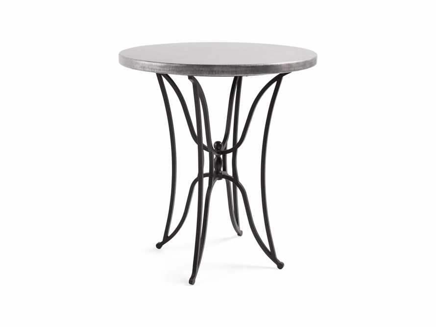 "Zinc Alloy 38"" Round Table Top With Kenya Bar Table Base, slide 5 of 6"