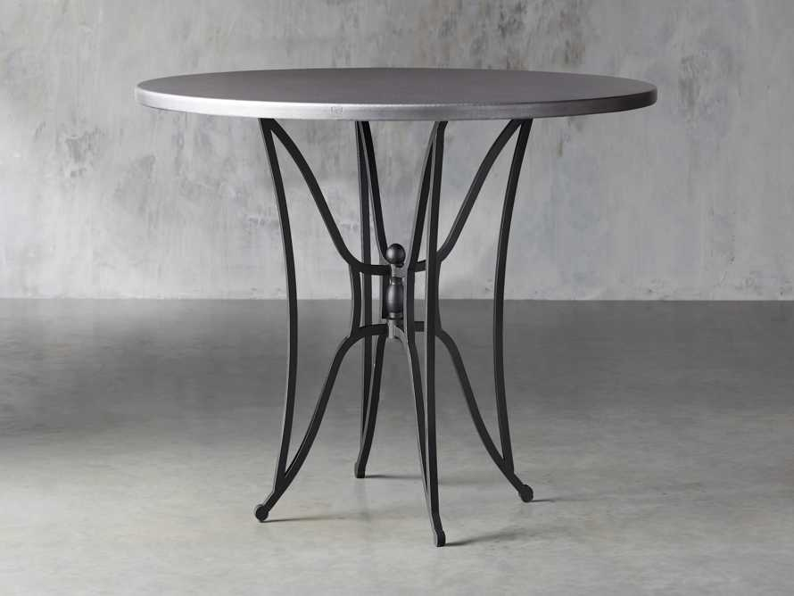 "Zinc Alloy 38"" Round Table Top With Kenya Bar Table Base, slide 2 of 6"