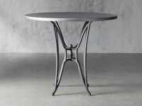 "Zinc Alloy 38"" Round Table Top With Kenya Bar Table Base"
