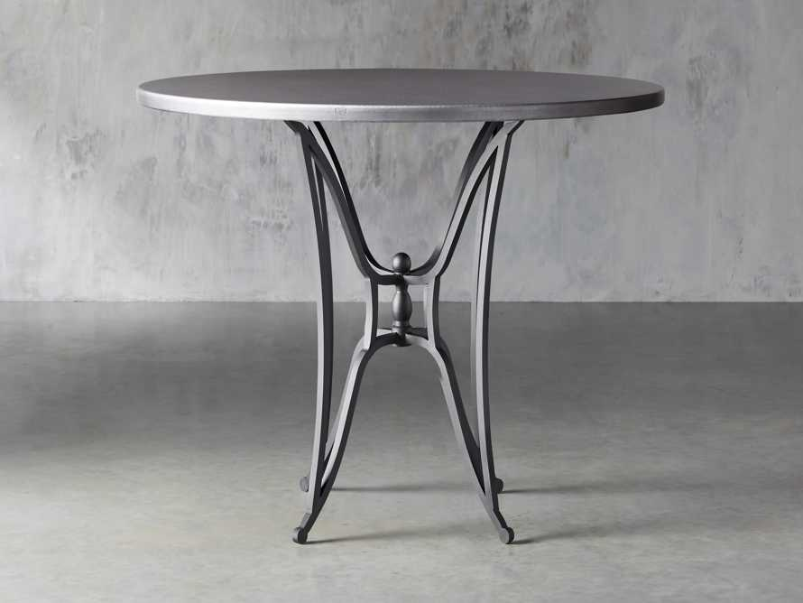 "Zinc Alloy 38"" Round Table Top With Kenya Bar Table Base, slide 1 of 6"