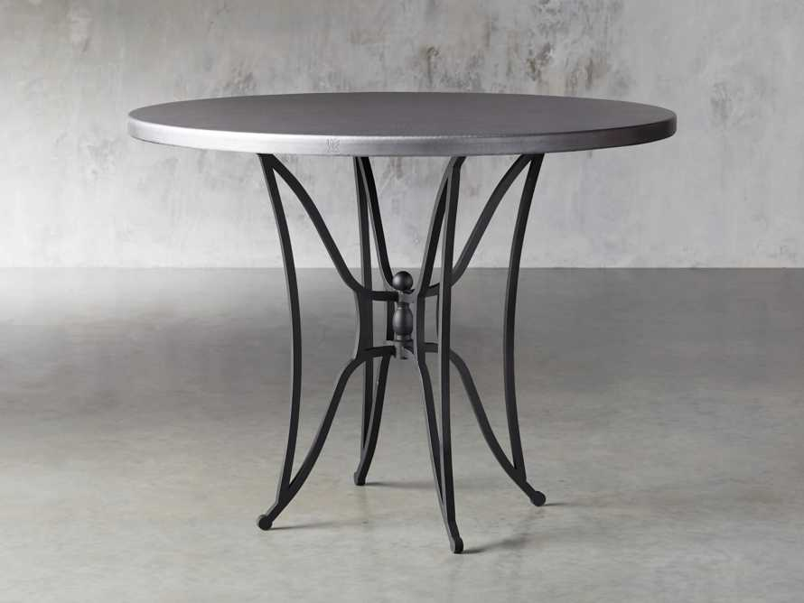 "Zinc Alloy 38"" Round Table Top With Kenya Counter Base, slide 2 of 4"