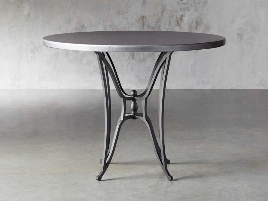 "Zinc Alloy 38"" Round Table Top With Kenya Counter Base, slide 1 of 4"