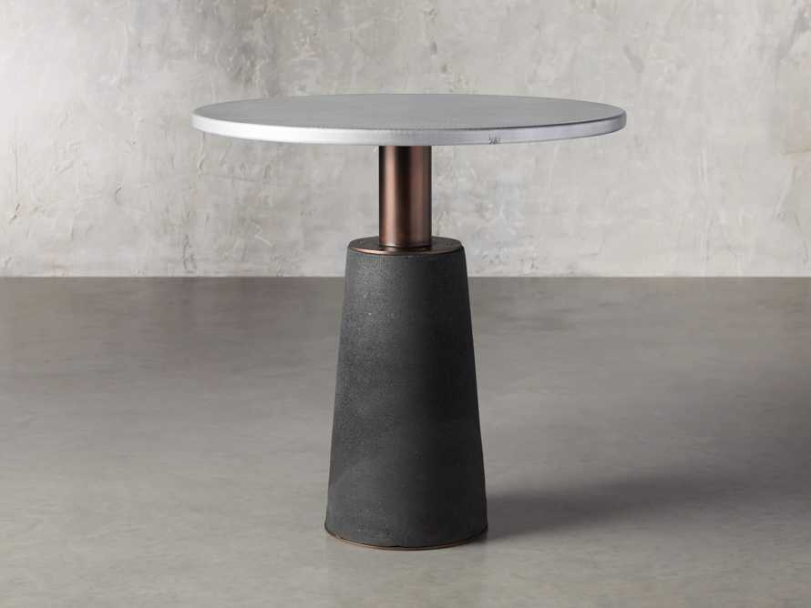 "Kamilah 36"" Zinc Top Counter Table, slide 1 of 4"