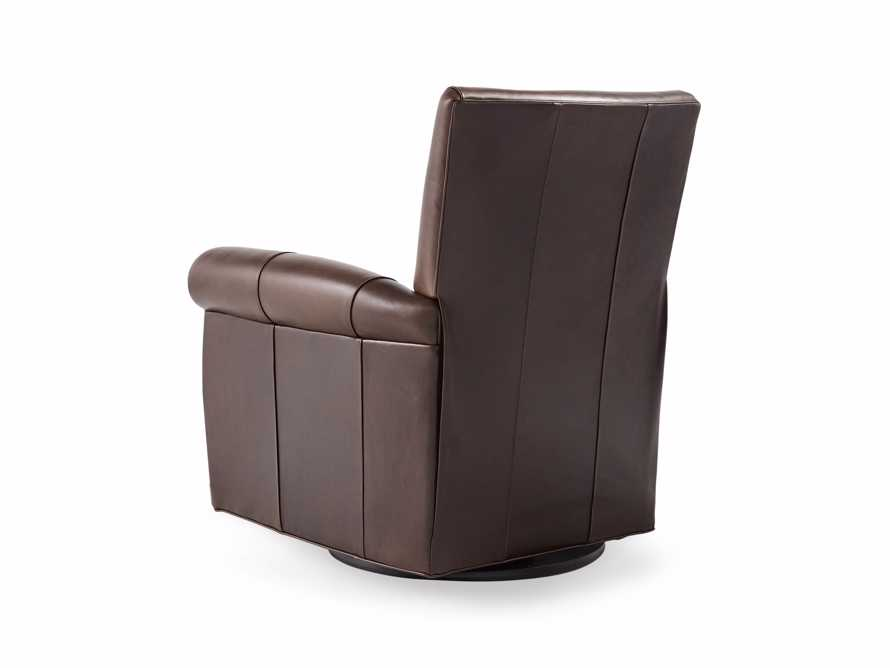 """Duvall 35"""" Leather Swivel Recliner"""