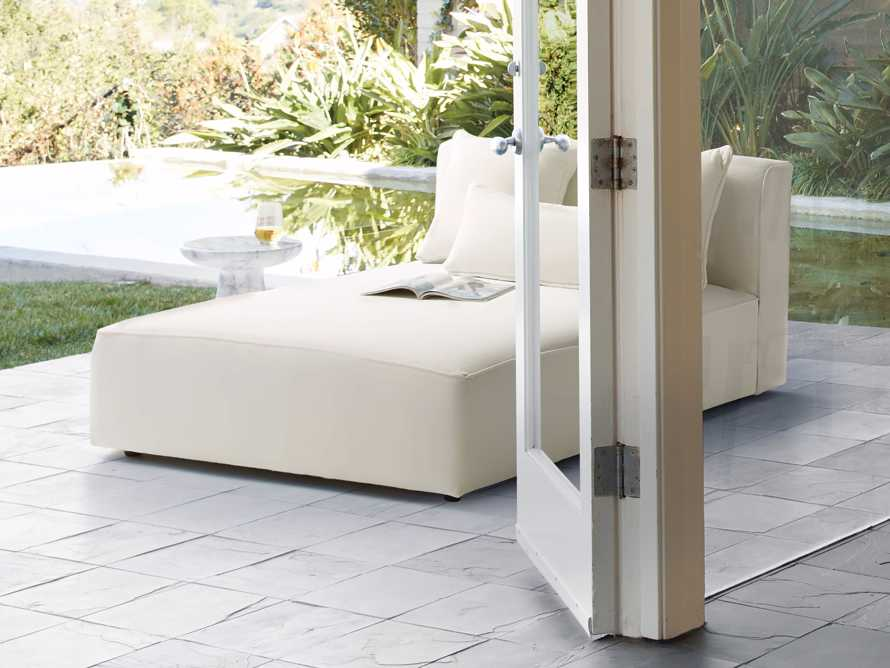Andaz Outdoor Double Chaise in Sail Sailor, slide 7 of 7