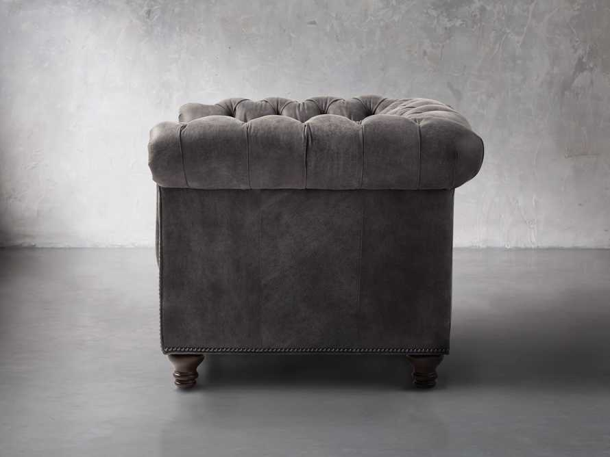 "Berwick 47"" Leather Tufted Chair"