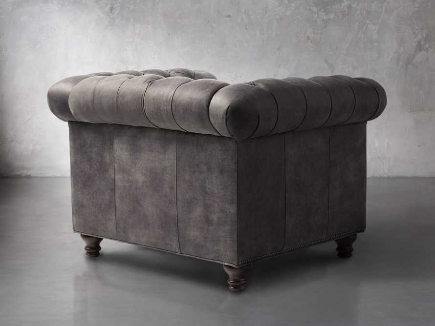 "Berwick 47"" Leather Tufted Chair, slide 4 of 7"