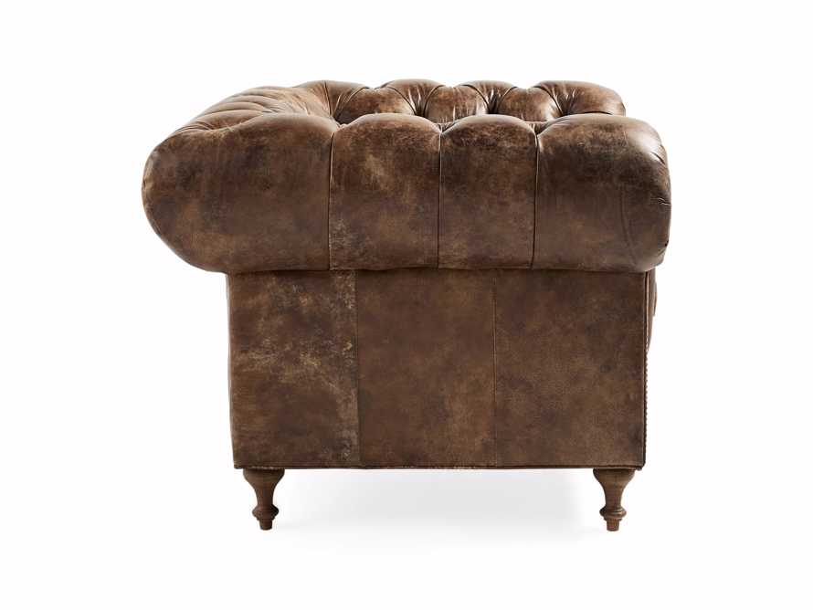 "Wessex Leather 56"" Tufted Chair, slide 3 of 6"