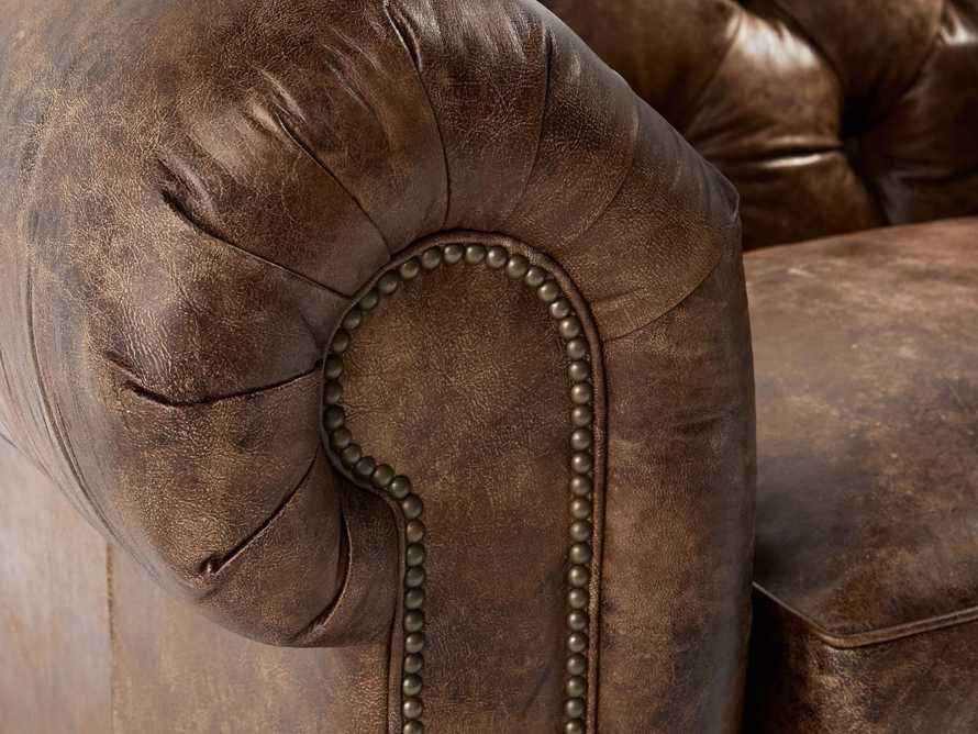 "Wessex Leather 56"" Tufted Chair"