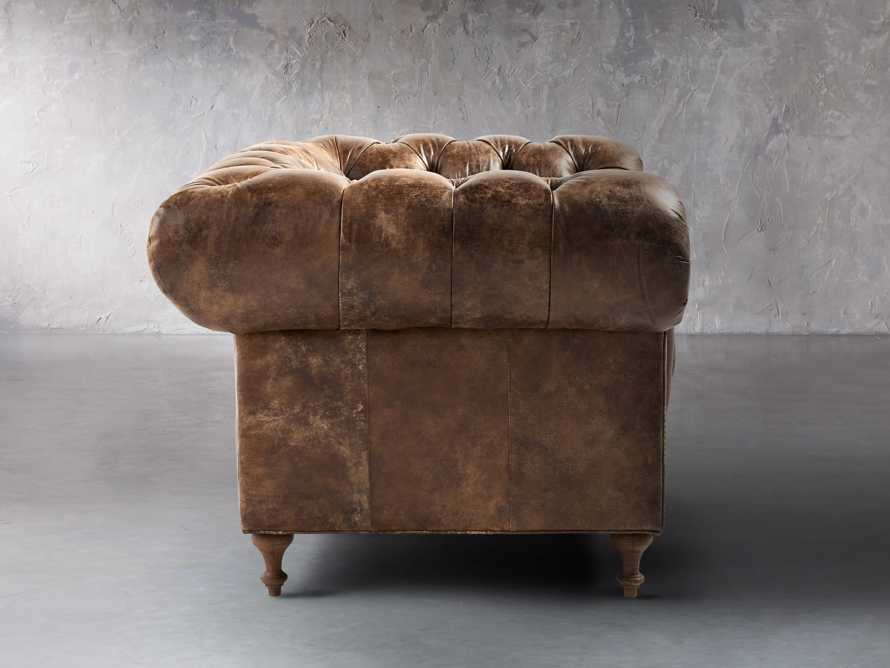 "Wessex Leather 56"" Tufted Chair, slide 3 of 8"