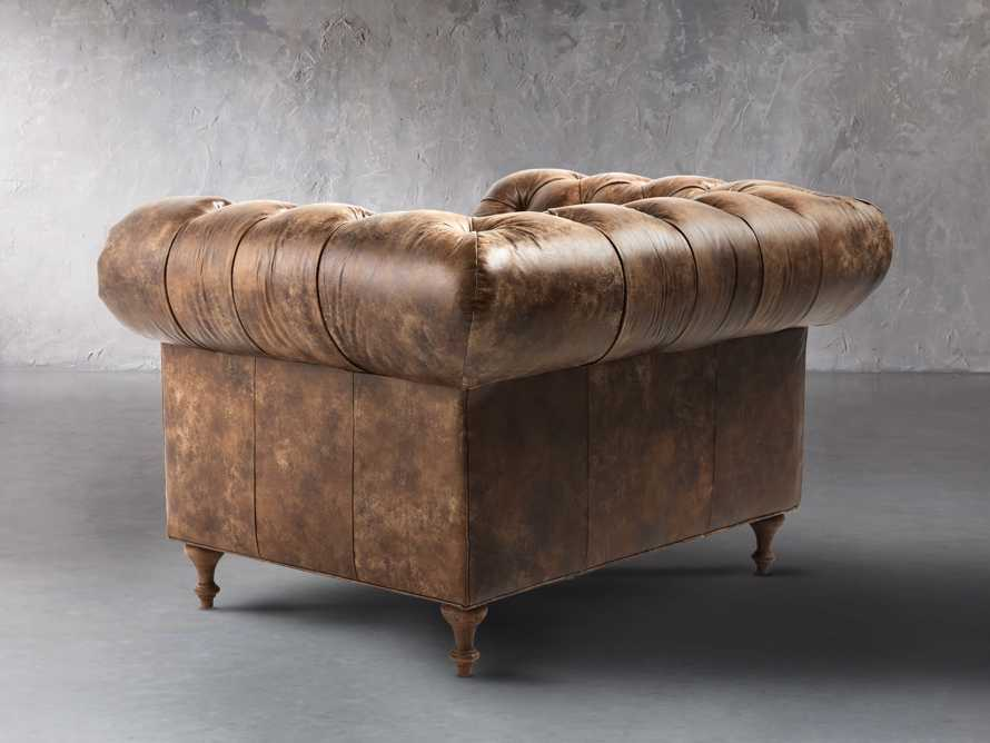 "Wessex Leather 56"" Tufted Chair, slide 4 of 8"