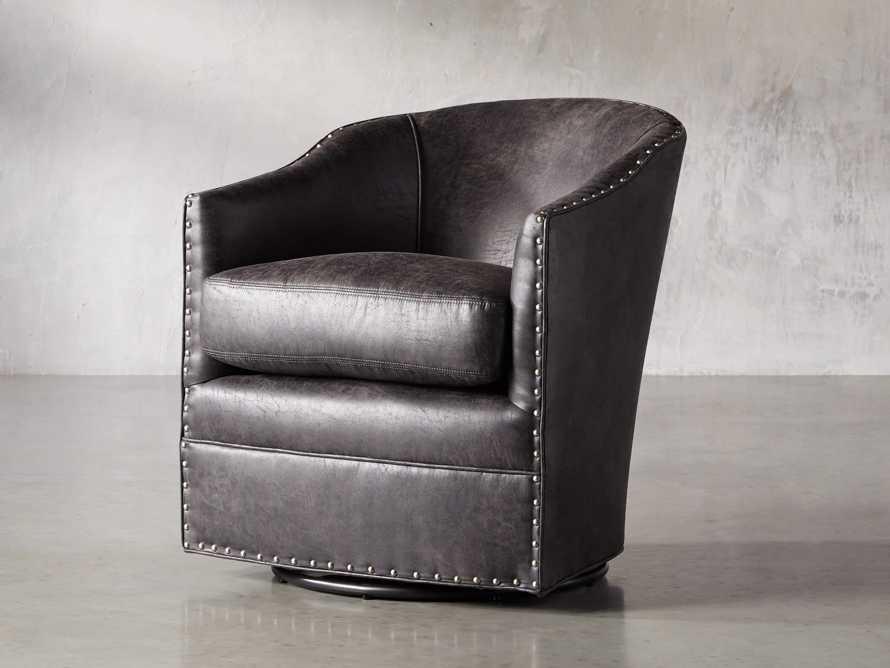"""Giles 28"""" Upholstered Swivel Chair, slide 2 of 11"""