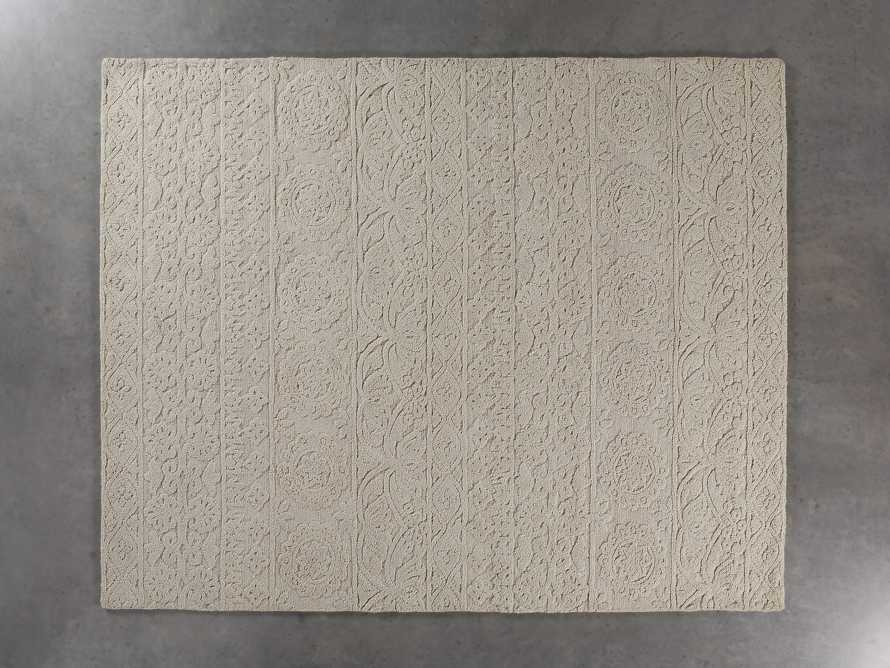 Lilia Handwoven 6x9 Rug in Ivory, slide 2 of 3