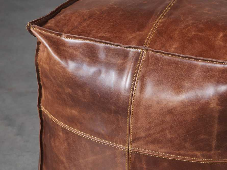 Stowe Leather Pouf, slide 2 of 3