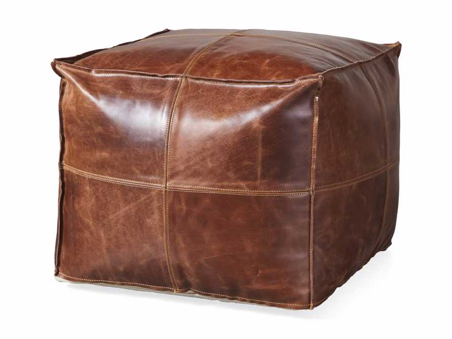 Stowe Leather Pouf, slide 3 of 3