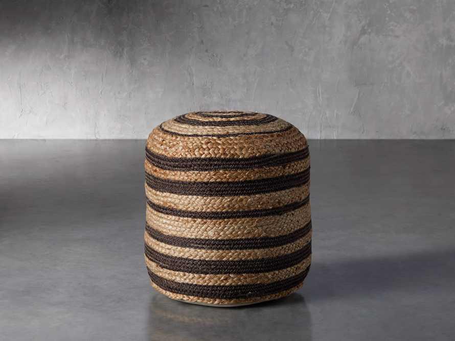 Striped Jute Pouf, slide 1 of 3