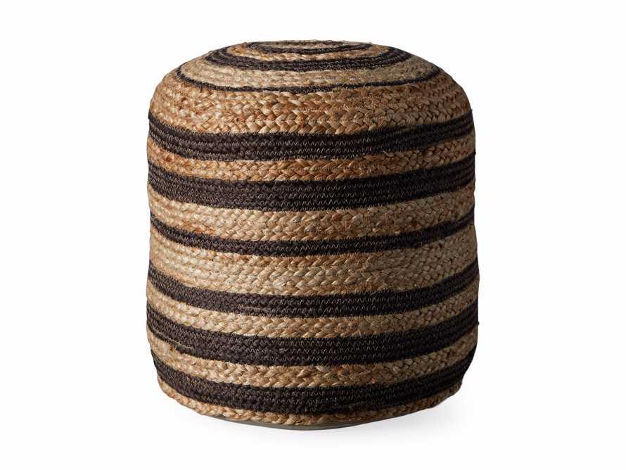 Striped Jute Pouf, slide 3 of 3