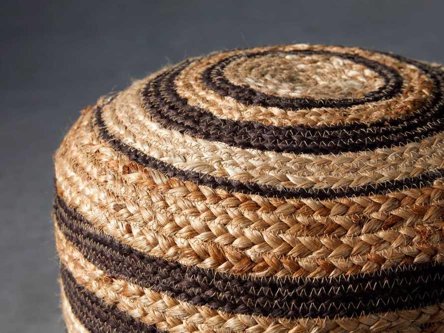 Striped Jute Pouf, slide 2 of 3