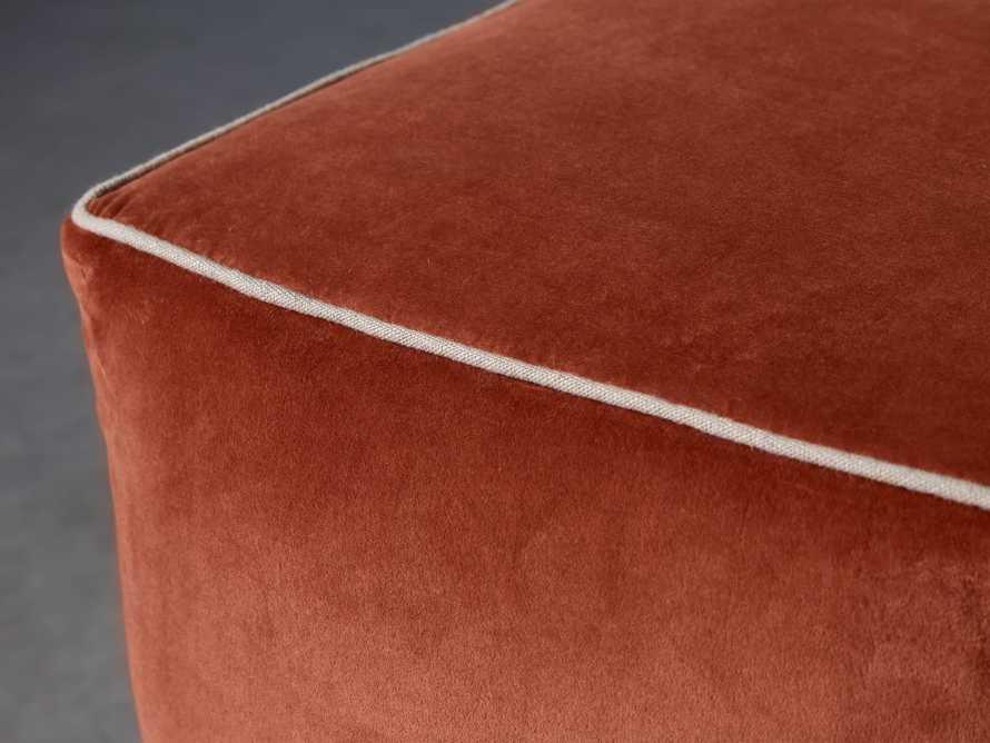 Velvet Pouf In Terracotta, slide 2 of 3