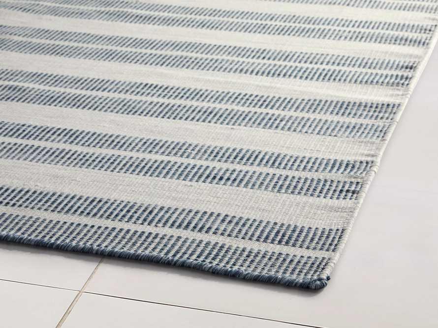 """2'6"""" x 10' Exline Performance Rug in Blue, slide 2 of 3"""