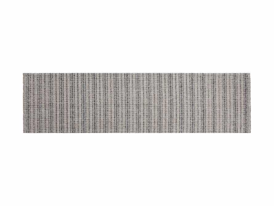 """2'6"""" x 10' Dover Runner Rug in Black and Ivory, slide 3 of 3"""