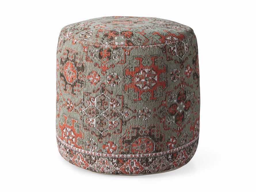 Minito Round Red Pouf, slide 3 of 3
