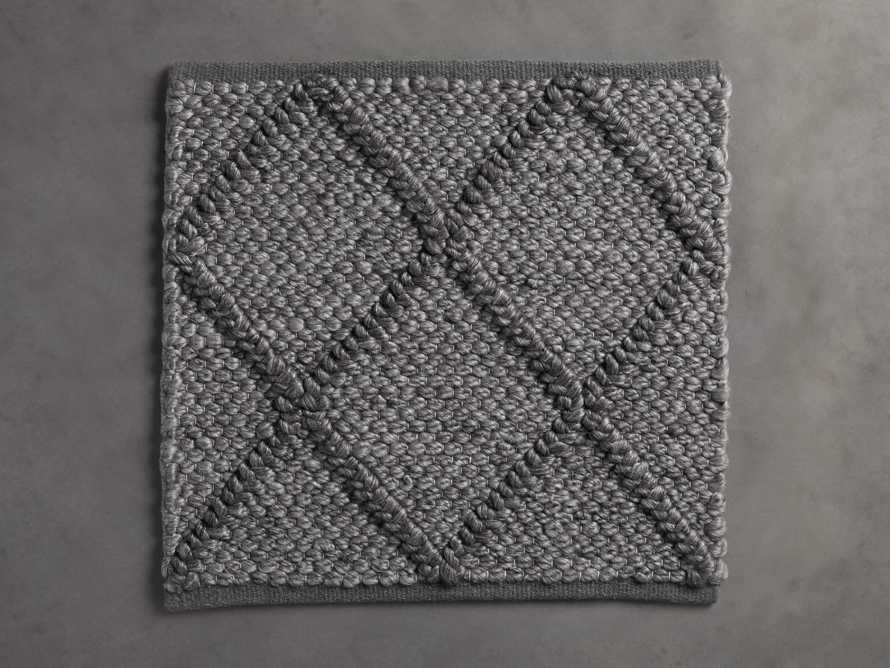 Canyon  Handwoven Rug Swatch in Charcoal, slide 1 of 1