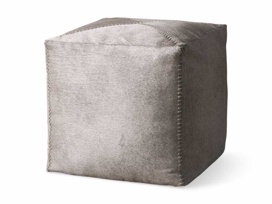 """Hide Whipstitch 16""""x16"""" Pouf in Grey, slide 3 of 3"""