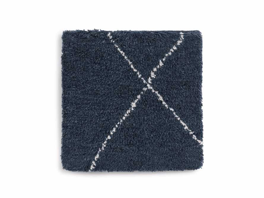 "Bensi 18"" Hand-knotted Rug Swatch in Navy"