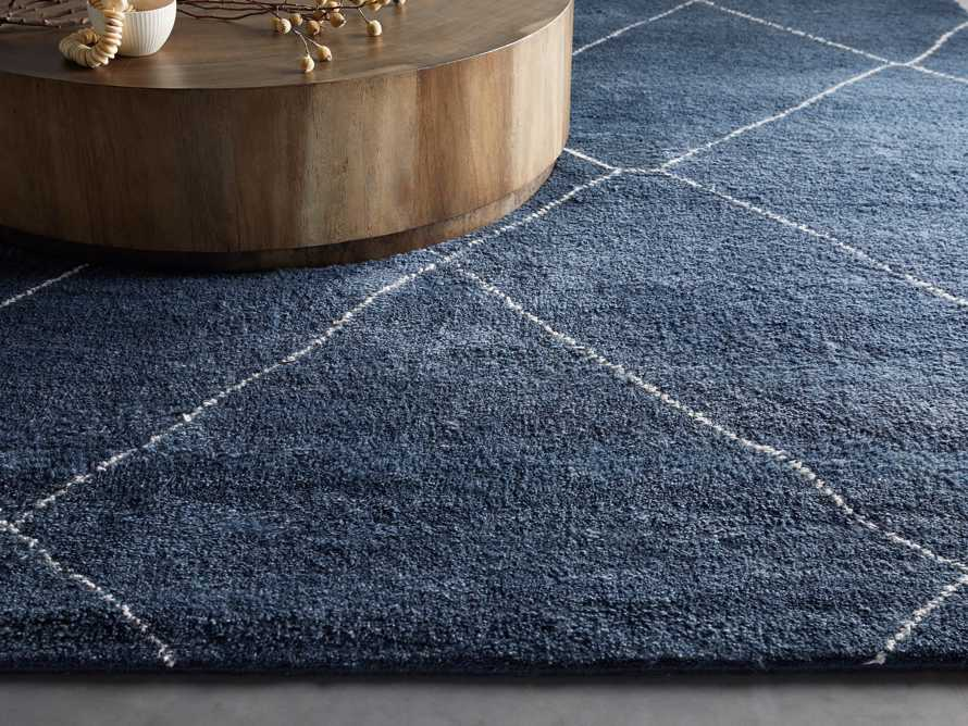 Bensi Hand-Knotted 6' x 9' Rug in Navy