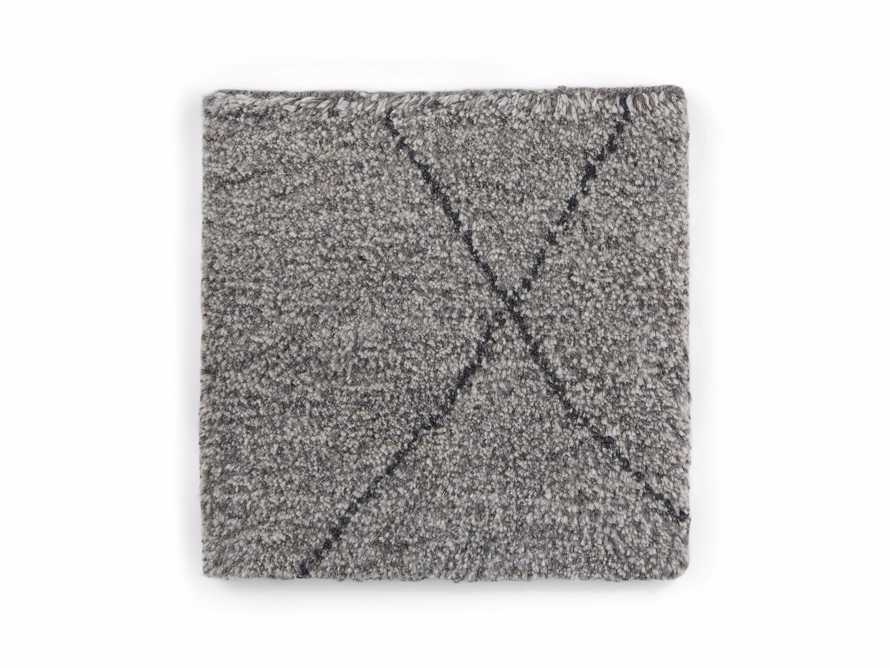 "Bensi 18"" Hand-knotted Rug Swatch in Ash, slide 1 of 1"