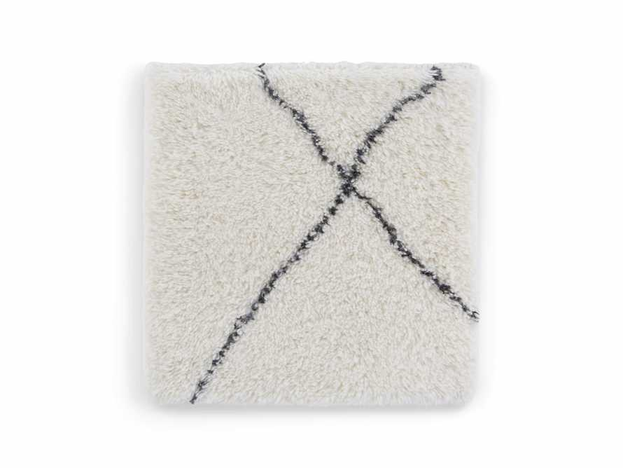 "Bensi 18"" Hand-knotted Rug Swatch in White, slide 1 of 1"