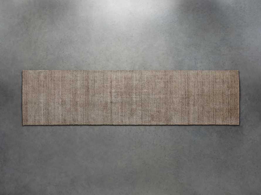 2'6 X 10 JACKSON BROWN RUG, slide 1 of 1
