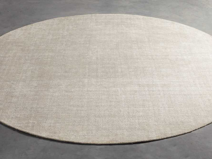 Jackson Round Rug in Cream, slide 3 of 3