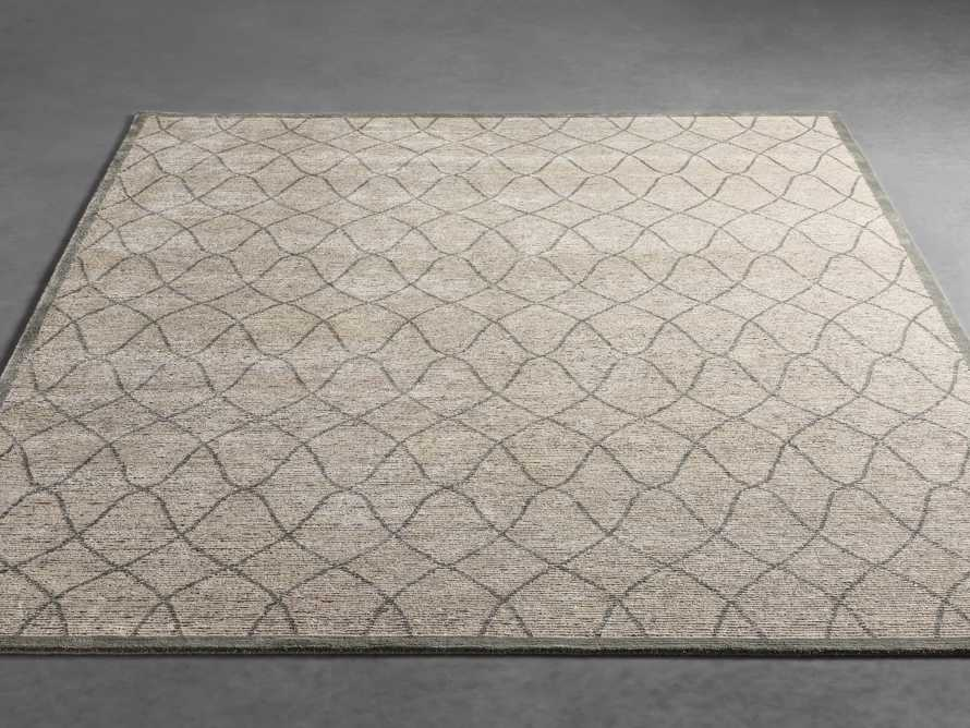 Sloane 6' x 9' Hand Knotted Cream Rug, slide 2 of 4