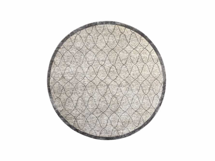 Sloane Hand-Knotted 8' Round Cream Rug, slide 1 of 4