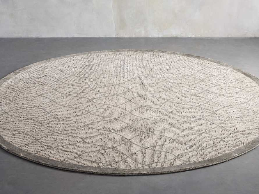 Sloane Hand-Knotted 8' Round Cream Rug, slide 2 of 4