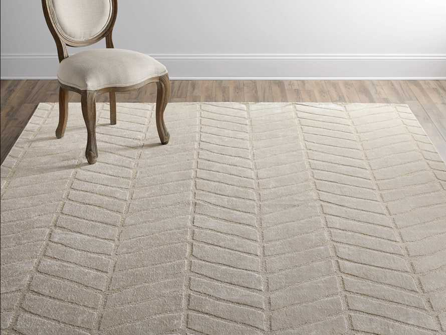 Seville 9' x 12' Hand Knotted Rug in Ivory