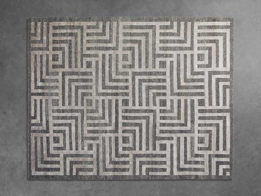 Trellis Hand-Knotted Rug in Charcoal 9x12, slide 2 of 5