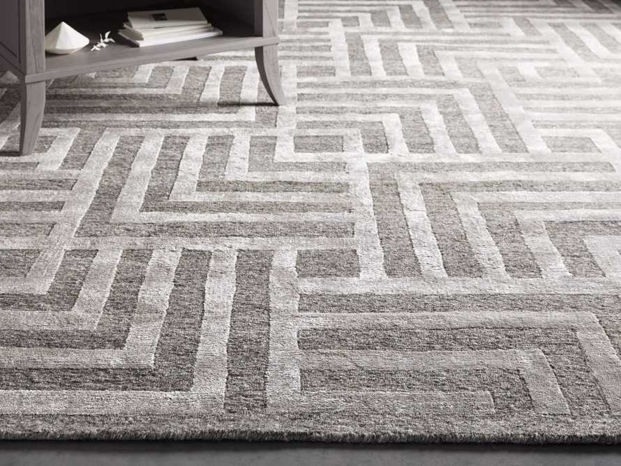 Trellis Hand-Knotted Rug in Charcoal 6x9, slide 1 of 4