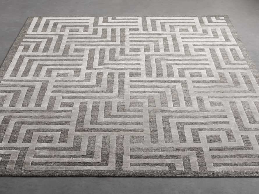 Trellis Hand-Knotted Rug in Charcoal 6x9, slide 3 of 4