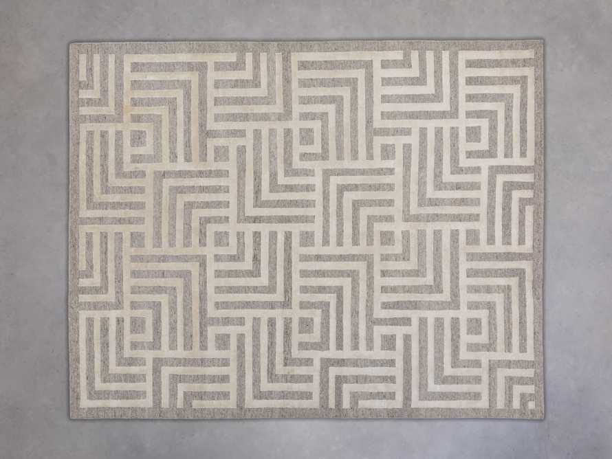 Trellis Hand-knotted Rug in Cream 6x9, slide 3 of 4