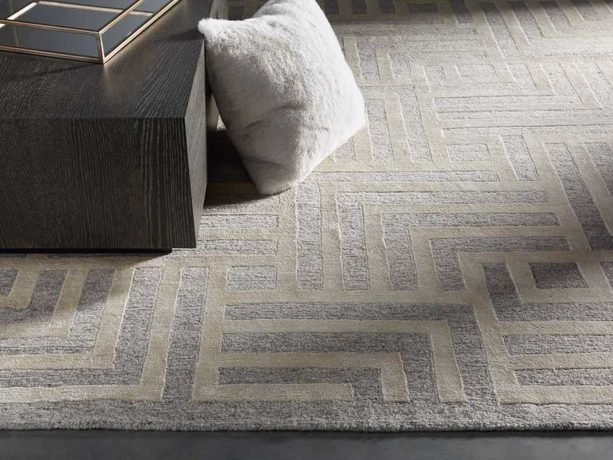 Trellis Hand-knotted Rug in Cream 6x9, slide 1 of 4