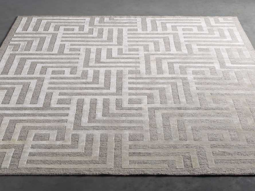 Trellis Hand-knotted Rug in Cream 6x9, slide 2 of 4