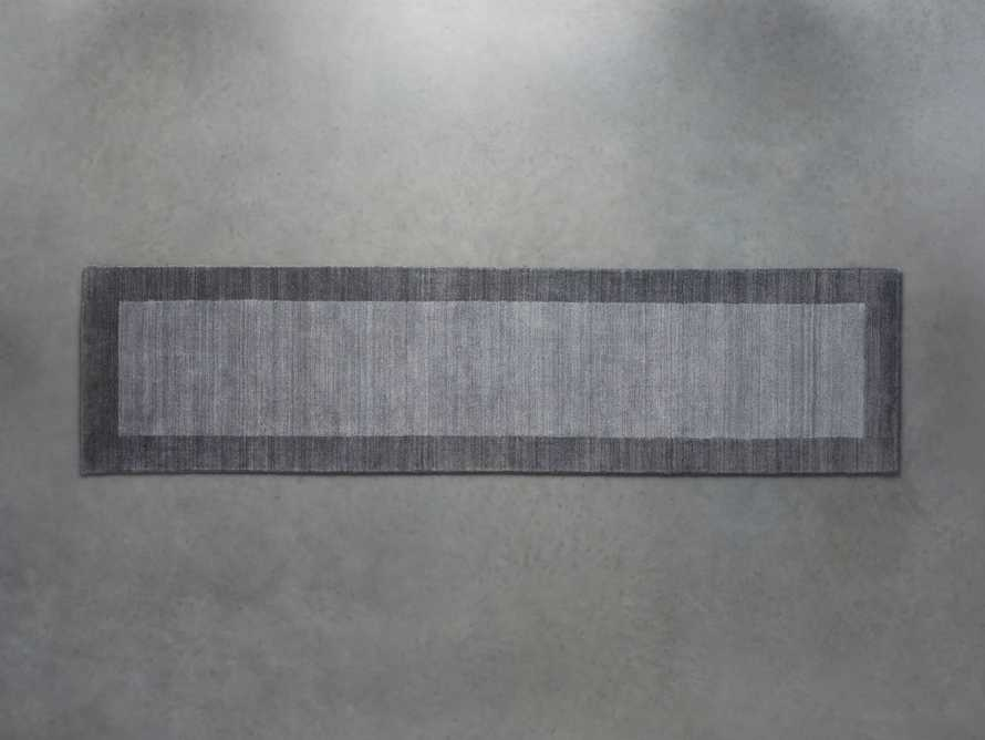2'6 X 10 TOWNSEND CHARCOAL RUG, slide 1 of 1