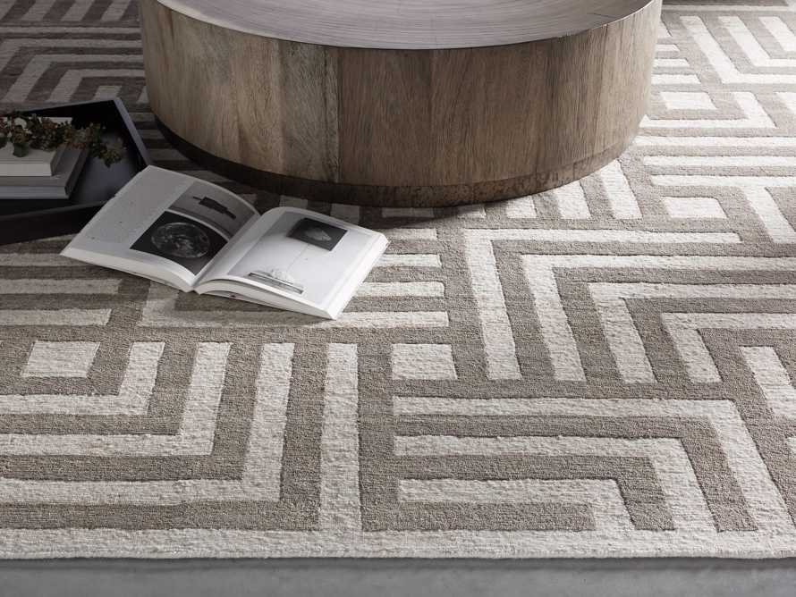 Trellis 9' x 12' Hand-knotted Rug in Ivory, slide 1 of 8