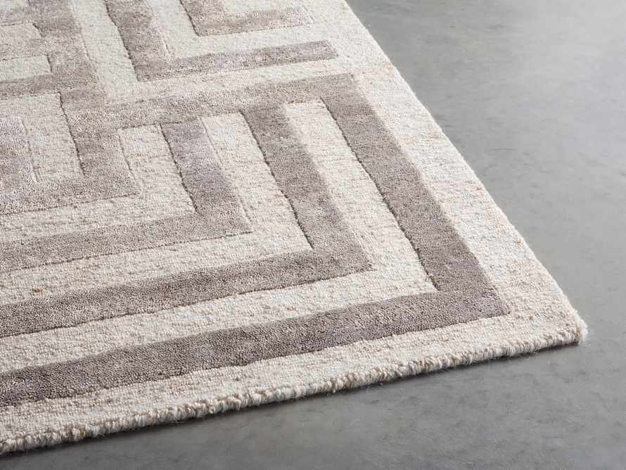 Trellis 9' x 12' Hand-knotted Rug in Ivory, slide 3 of 8