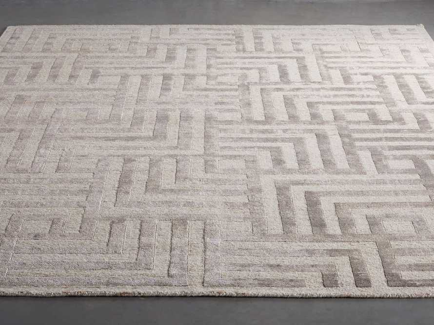 Trellis 9' x 12' Hand-knotted Rug in Ivory, slide 2 of 8