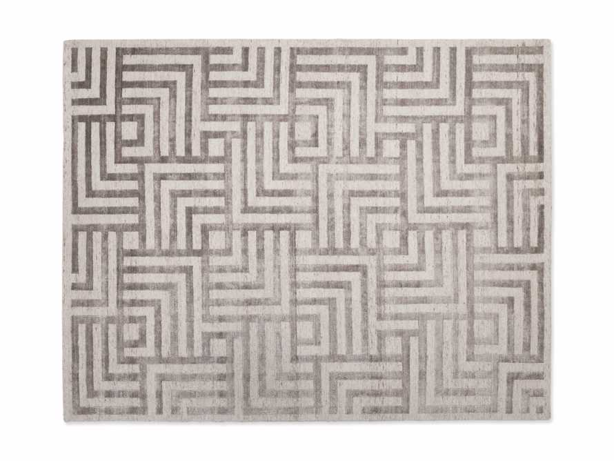 Trellis 9' x 12' Hand-knotted Rug in Ivory, slide 4 of 8